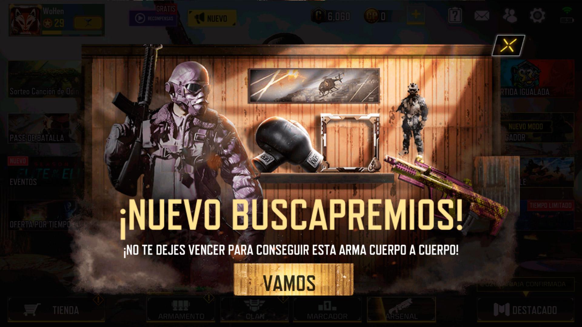 Buscapremios en Call of Duty Mobile